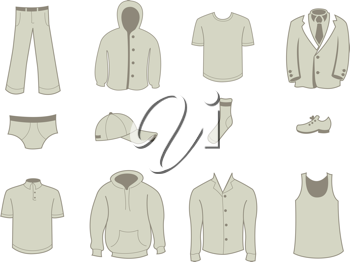 Royalty Free Clipart Image of Clothes