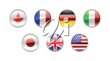Royalty Free Clipart Image of World Flag Icons
