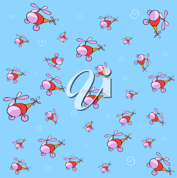 Royalty Free Clipart Image of a Helicopter Background