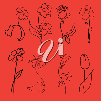 Royalty Free Clipart Image of Flowers