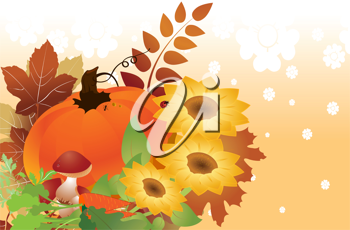 Royalty Free Clipart Image of a Thanksgiving Background