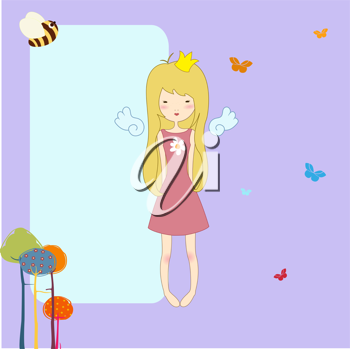 Royalty Free Clipart Image of a Cute Greeting Card