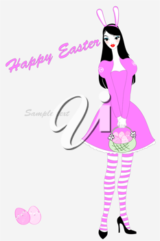 Royalty Free Clipart Image of an Easter Greeting Card