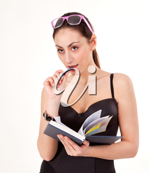 Royalty Free Photo of a Woman Holding a Book
