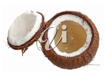 Royalty Free Photo of a Opened Coconut