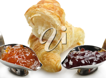 Royalty Free Photo of Croissants and Jam