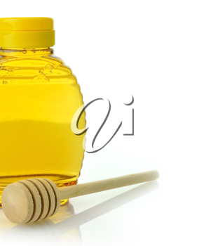 Royalty Free Photo of a Bottle of Honey