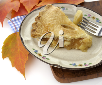 Royalty Free Photo of a Slice of Apple Pie