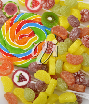 Colorful Candies Assortment ,Close Up