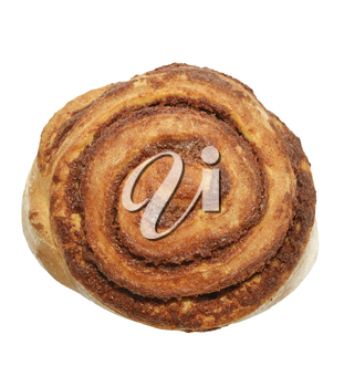 Sweet Cinnamon Roll  Isolated On White Background