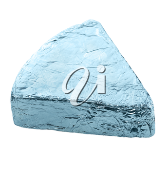 Blue Cheese Wedge In Aluminum Foil