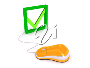Royalty Free Clipart Image of a Computer Mouse