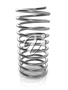 Royalty Free Clipart Image of a Metal Spring