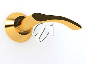 Royalty Free Clipart Image of a Door Handle