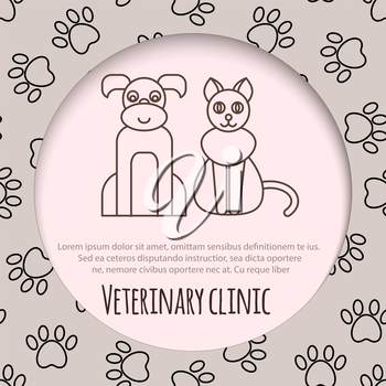 Veterinary pet health care animal medicine icons set isolated. vector illustration