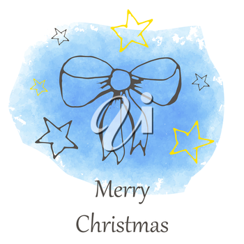 vector Christmas and new year hand drawn icon. Doodle illustration