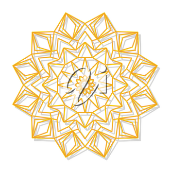 Mandala. Decorative round ornament. Anti-stress therapy pattern. Hand drawn ornament. Islam, Arabic, Indian style