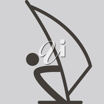 Summer sports icons - sailing icon