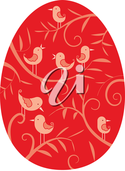 Easter egg - background for Easter greeting card