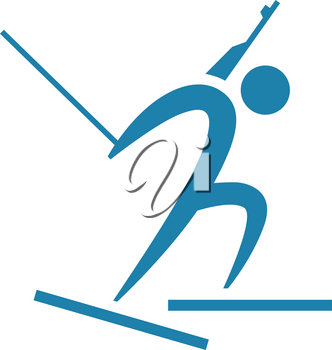 Winter sport icon - Biathlon icon