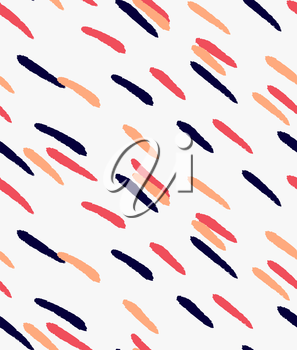 Marker drawn diagonal blue orange red hatches.Hand drawn with marker seamless background.Modern hipster style design.