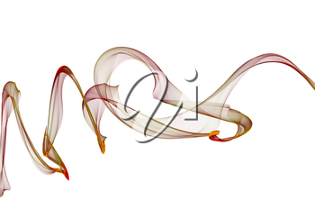 Royalty Free Clipart Image of a Twisted Ribbon of Colour