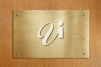Royalty Free Photo of a Wooden Plaque