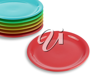 Royalty Free Photo of a Stack of Plates