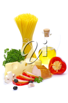 Royalty Free Photo of Ingredients for an Italian Meal