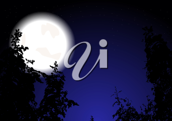 Royalty Free Clipart Image of a Full Moon