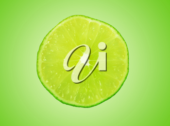 Royalty Free Photo of a Slice of Lime