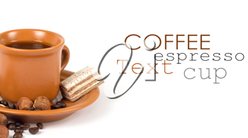 Royalty Free Photo of a Cup of Coffee and Sweets