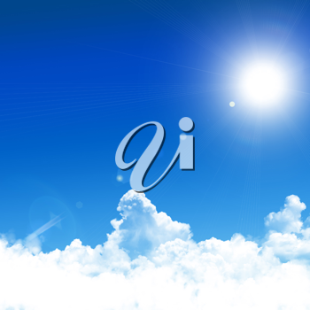Royalty Free Photo of a Blue Sky Background