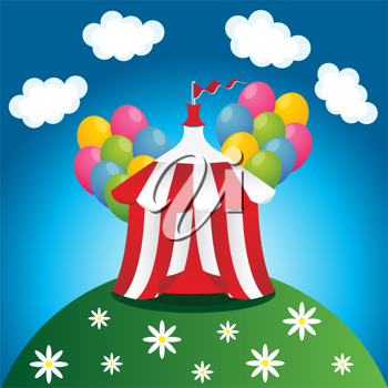 Royalty Free Clipart Image of a Circus Tent