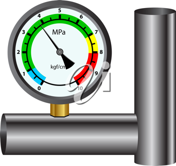 Royalty Free Clipart Image of a Gas Manometer