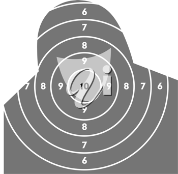 Royalty Free Clipart Image of a Target for Shooting Practice