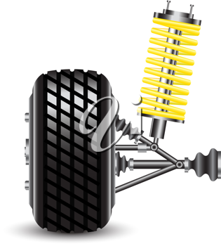 Royalty Free Clipart Image of a Car Suspension