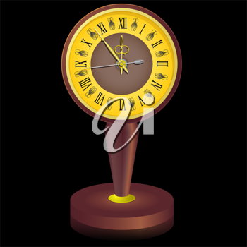Royalty Free Clipart Image of a Vintage Clock