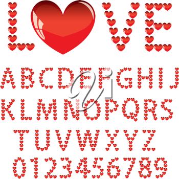 Royalty Free Clipart Image of an Alphabet
