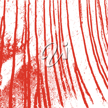 Texture  white  wall with bloody red stains. Vector illustration.