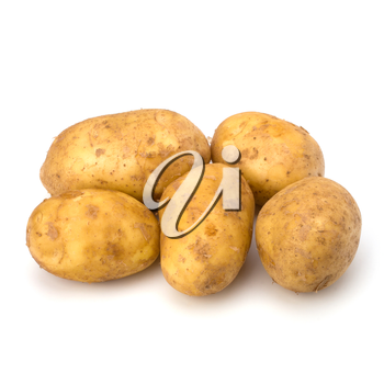 potatoes isolated on white background close up