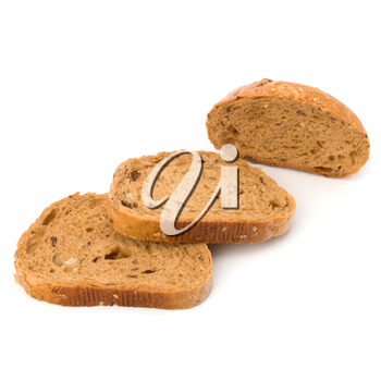 Healthy grain bread  isolated on white background