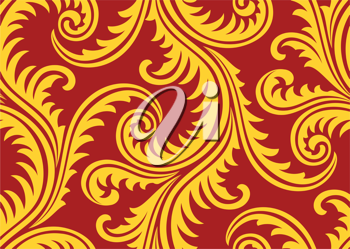 Royalty Free Clipart Image of a Seamless Pattern