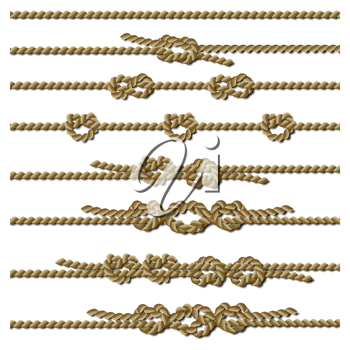 Royalty Free Clipart Image of Knotted Ropes