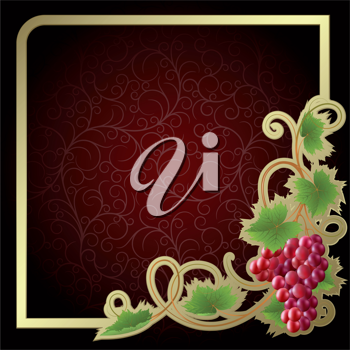 Royalty Free Clipart Image of a Grapevine Background