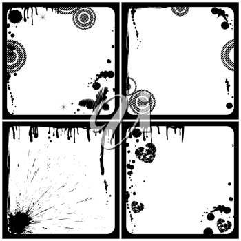 Royalty Free Clipart Image of Grunge Frames