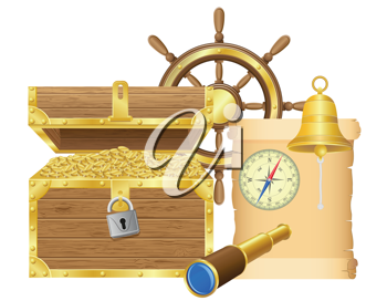 Royalty Free Clipart Image of Pirate Symbols