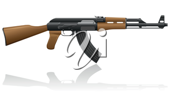 Royalty Free Clipart Image of an Automatic Machine AK-47 Kalashnikov