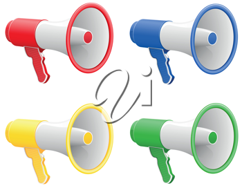 Royalty Free Clipart Image of Megaphones