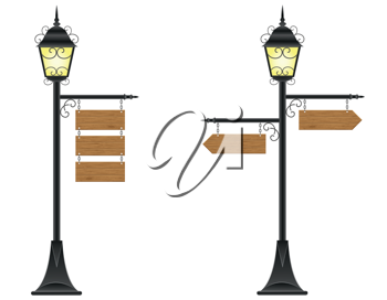 Royalty Free Clipart Image of Signposts